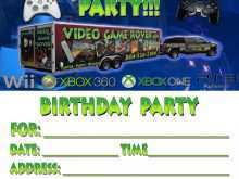32 Blank Video Game Party Invitation Template Templates with Video Game Party Invitation Template