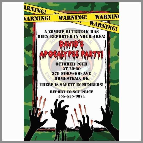 Zombie Birthday Invitation Template