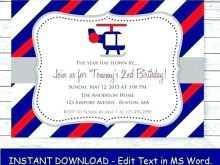 32 Creative Airplane Birthday Invitation Template Download with Airplane Birthday Invitation Template