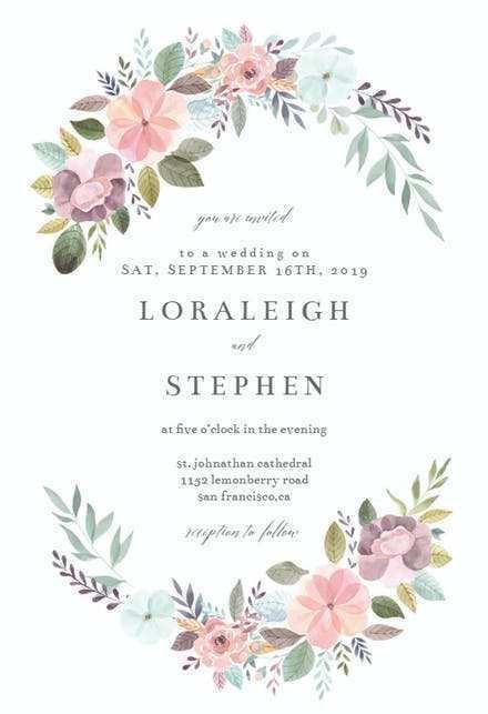 electronic wedding invitation template