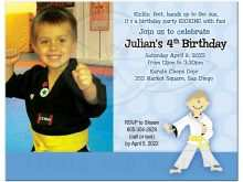 32 Customize Our Free Karate Party Invitation Template Download with Karate Party Invitation Template