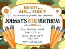 32 Customize Our Free Nerf Birthday Invitation Template Free Photo for Nerf Birthday Invitation Template Free