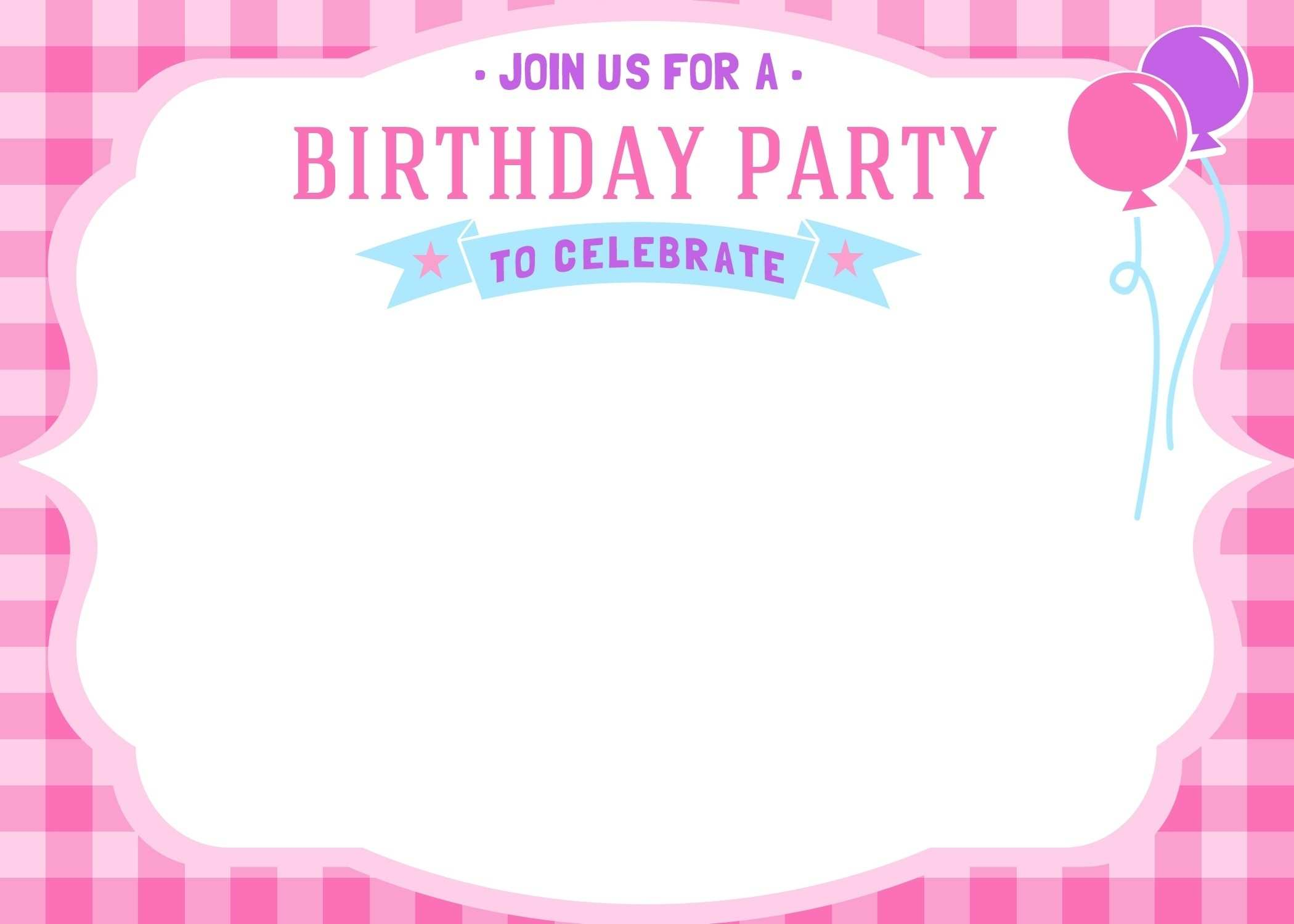 5 Free Printable Party Invitation Card Template Photo with Party