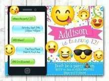32 Printable Emoji Party Invitation Template for Ms Word with Emoji Party Invitation Template