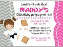 32 Printable Karate Birthday Party Invitation Template Free Formating by Karate Birthday Party Invitation Template Free