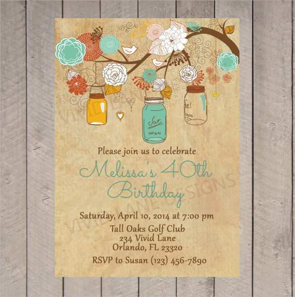 32 Printable Rustic Birthday Invitation Template PSD File for Rustic Birthday Invitation Template