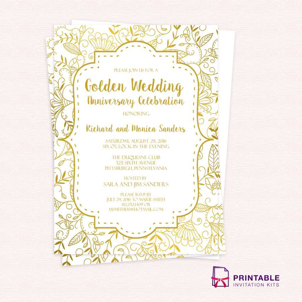 Wedding Invitation Template Free Pdf