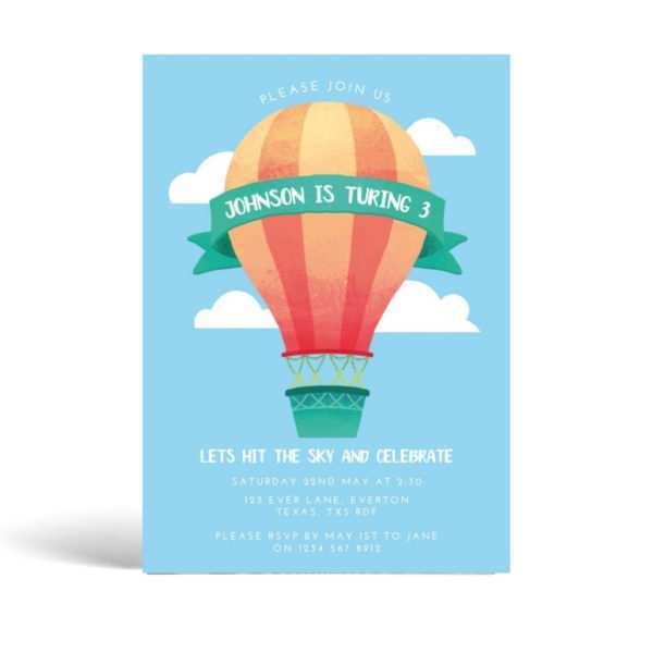 32 Standard Birthday Invitation Template Balloons PSD File with Birthday Invitation Template Balloons