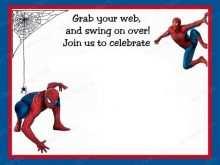 Spiderman Party Invitation Template Free