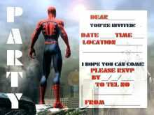 32 Standard Spiderman Party Invitation Template Free Download by Spiderman Party Invitation Template Free
