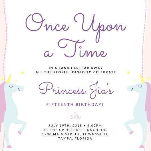 33 Adding Party Invitation Template Unicorn Photo with Party Invitation Template Unicorn
