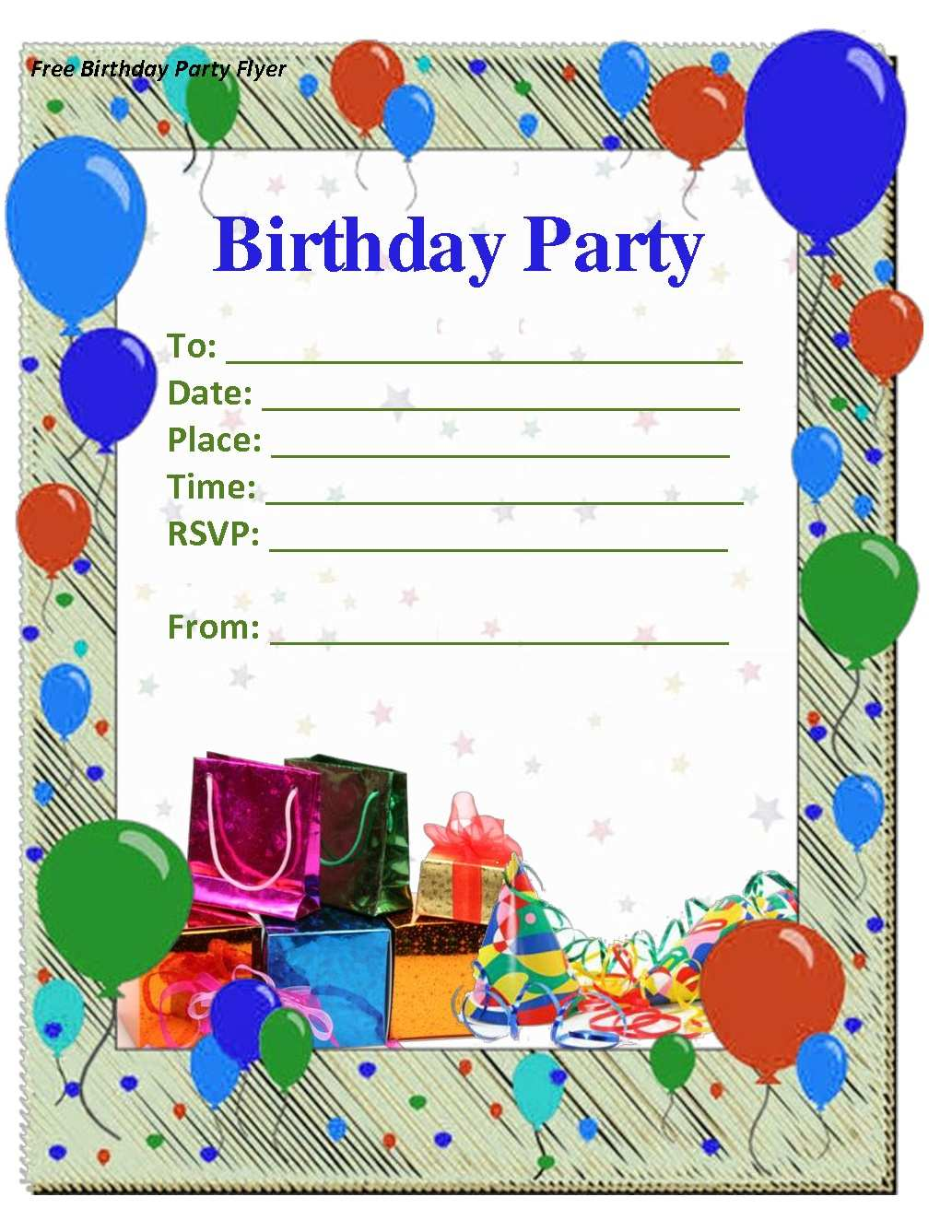 5 Blank Birthday Invitation Templates Vector Free Download