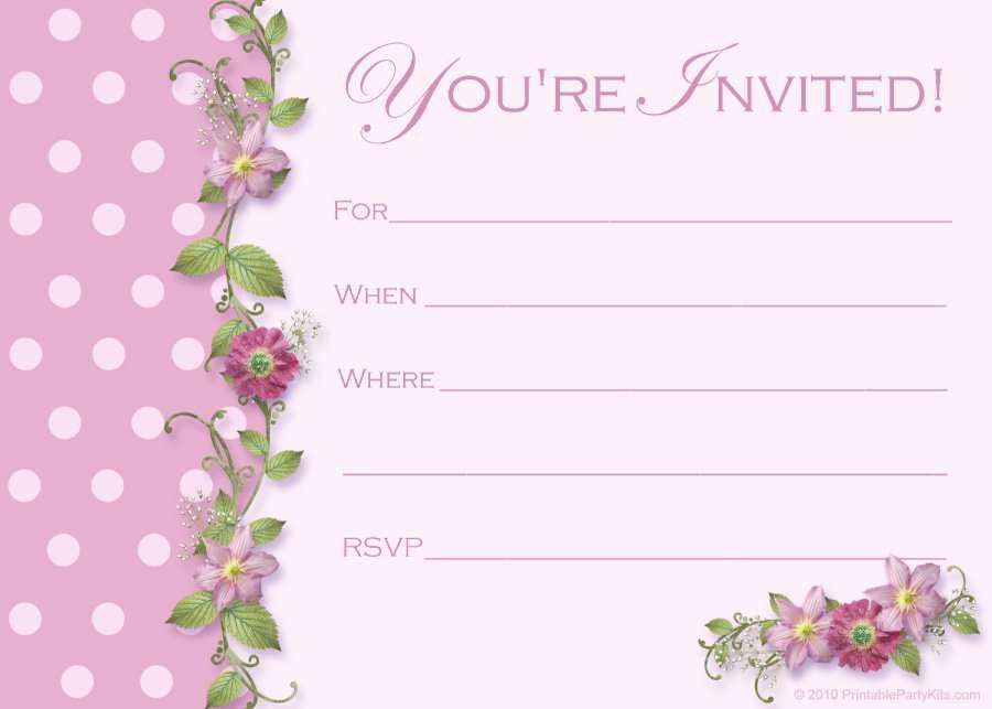 33 Creating Blank Invitation Templates Free Printable PSD File with Blank Invitation Templates Free Printable