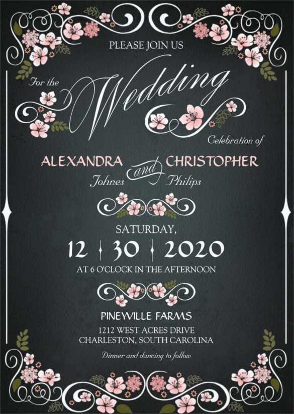 33 Creative Chalkboard Wedding Invitation Template Free Templates by Chalkboard Wedding Invitation Template Free