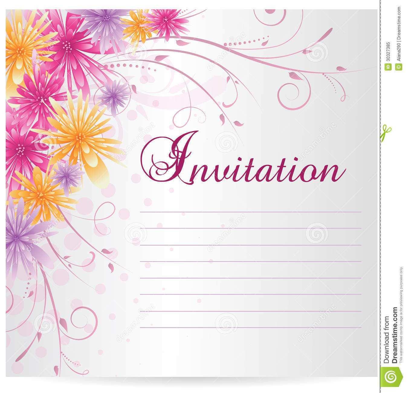 33 Customize Blank Birthday Invitation Templates For Microsoft Word Now for Blank Birthday Invitation Templates For Microsoft Word