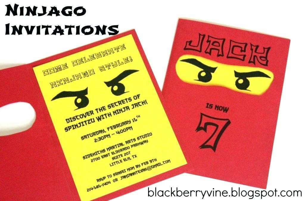 33 Free Ninjago Birthday Party Invitation Template Free Download for Ninjago Birthday Party Invitation Template Free