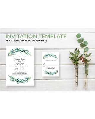 33 How To Create Wedding Invitation Template Eucalyptus for Ms Word by Wedding Invitation Template Eucalyptus