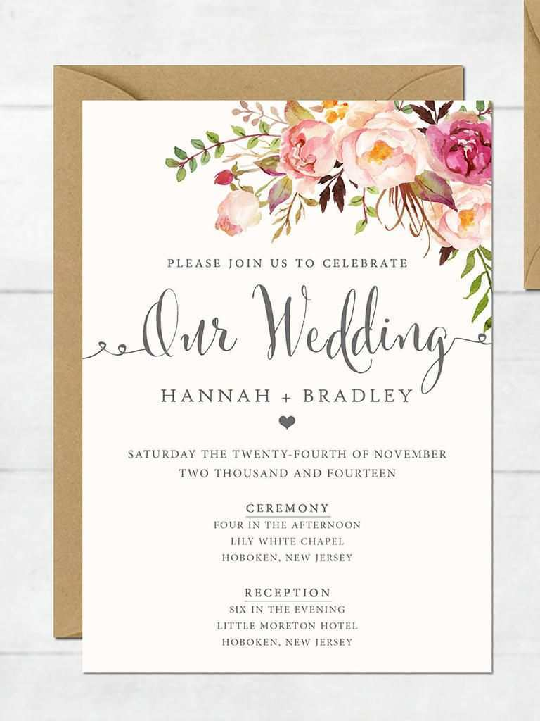 33 Online 16 Printable Wedding Invitation Templates You Can Diy Layouts with 16 Printable Wedding Invitation Templates You Can Diy