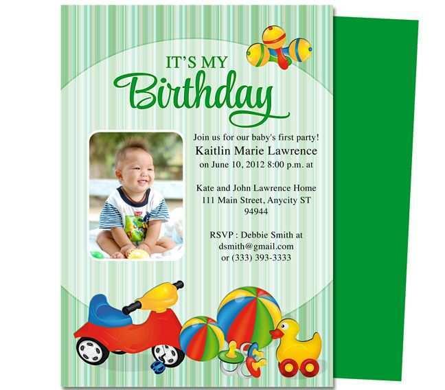 33 The Best Baby Birthday Invitation Template Templates for Baby Birthday Invitation Template