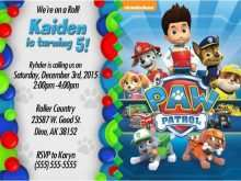 34 Blank Paw Patrol Birthday Invitation Template Free Maker with Paw Patrol Birthday Invitation Template Free