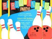 34 Creative Bowling Party Invitation Template Free in Word with Bowling Party Invitation Template Free