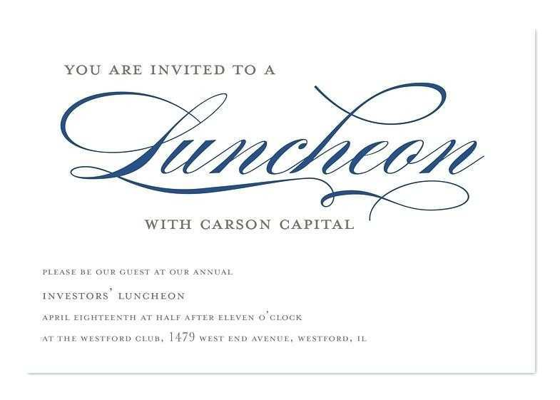 34 Format Formal Lunch Invitation Template in Word with Formal Lunch Invitation Template