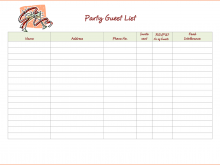 34 Free Party Invitation List Template in Word with Party Invitation List Template
