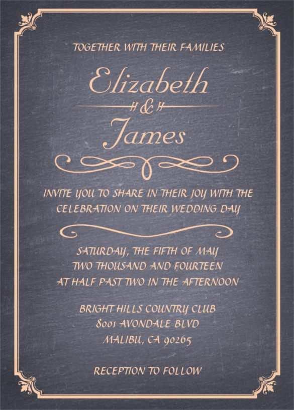 34 Online Chalkboard Wedding Invitation Template Free For Free for Chalkboard Wedding Invitation Template Free