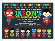 Princess And Superhero Party Invitation Template