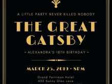 34 Standard Great Gatsby Party Invitation Template Free For Free for Great Gatsby Party Invitation Template Free