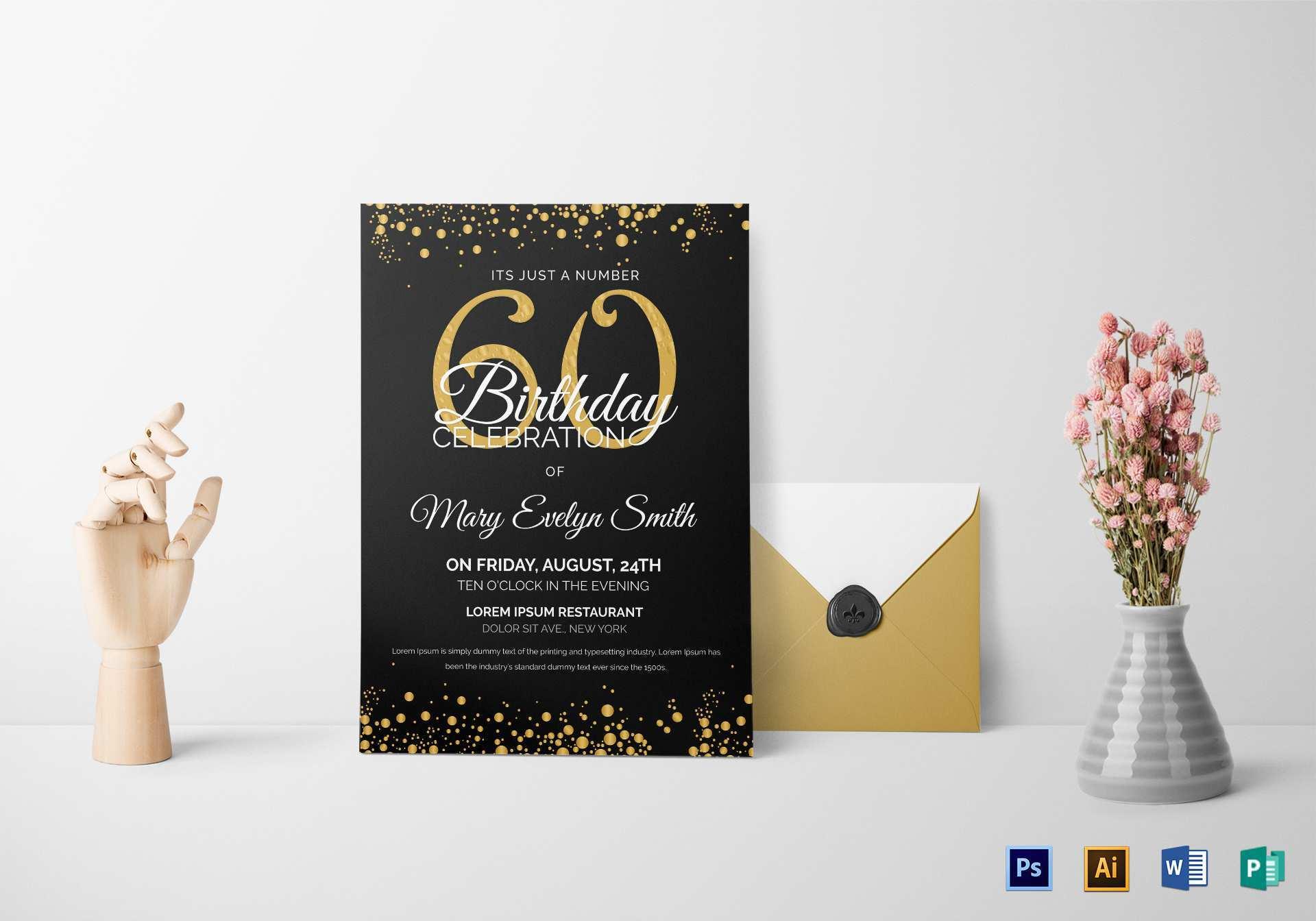 34 The Best Birthday Invitation Template Illustrator in Word with Birthday Invitation Template Illustrator