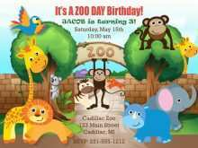 34 The Best Zoo Birthday Party Invitation Template Layouts by Zoo Birthday Party Invitation Template