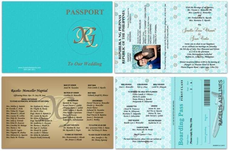 35 Adding Free Passport Wedding Invitation Template With Stunning Design for Free Passport Wedding Invitation Template