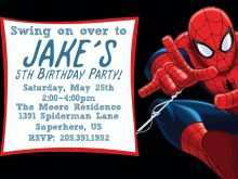 35 Best Spiderman Party Invitation Template Free Formating with Spiderman Party Invitation Template Free