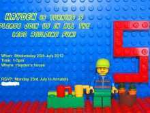 35 Blank Lego Birthday Party Invitation Template Layouts for Lego Birthday Party Invitation Template