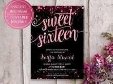 35 Create Blank Sweet 16 Invitation Templates in Word with Blank Sweet 16 Invitation Templates