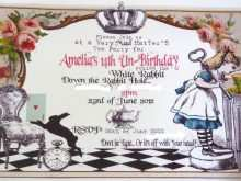35 Creative Blank Alice In Wonderland Invitation Template for Ms Word by Blank Alice In Wonderland Invitation Template