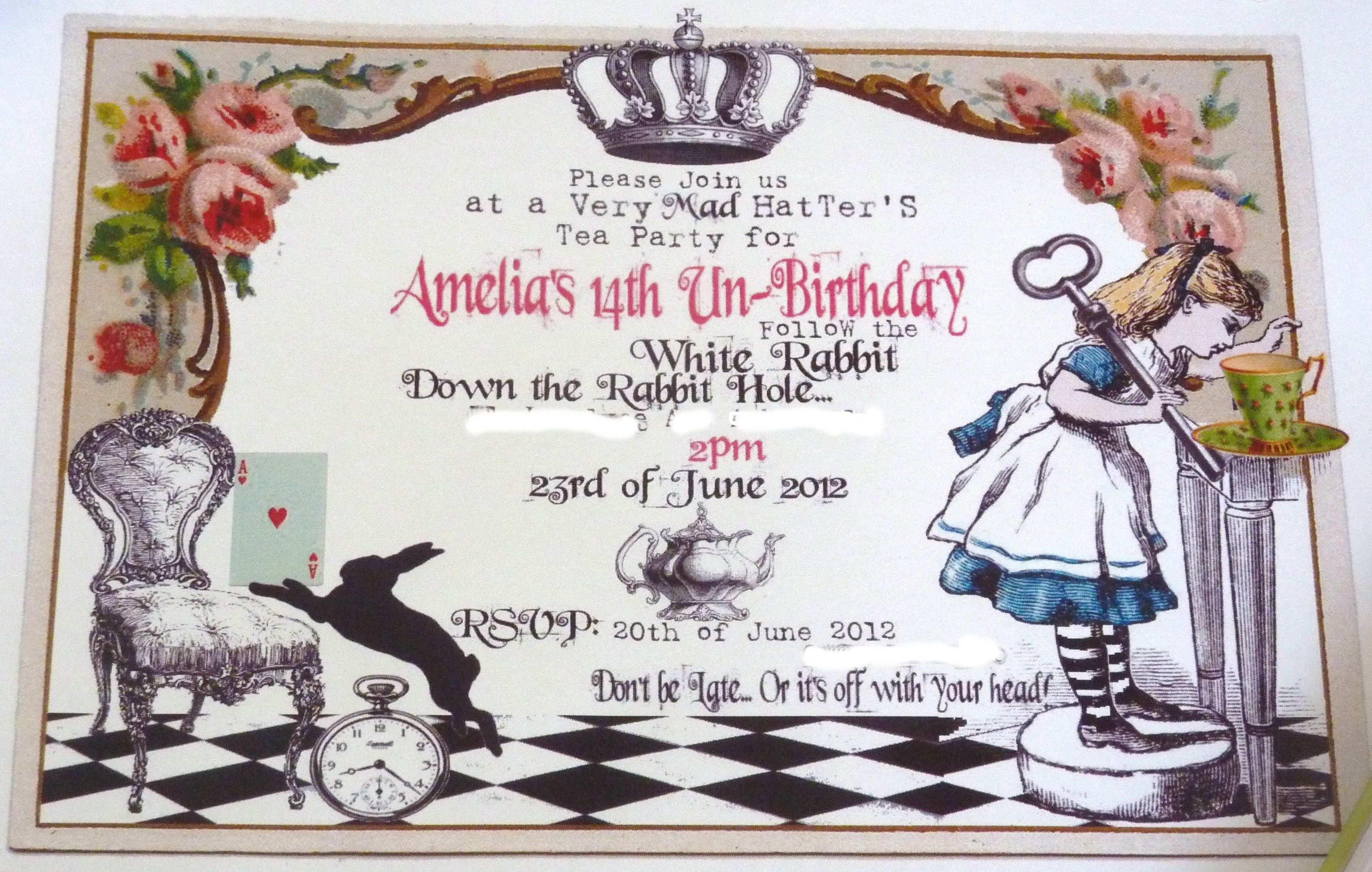 35 Creative Blank Alice In Wonderland Invitation Template for Ms Word by Blank Alice In Wonderland Invitation Template