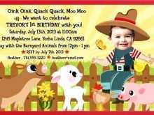 35 Customize Farm Animal Birthday Invitation Template PSD File by Farm Animal Birthday Invitation Template