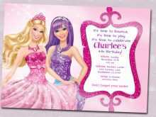 35 Customize Our Free Birthday Invitation Barbie Template Photo by Birthday Invitation Barbie Template