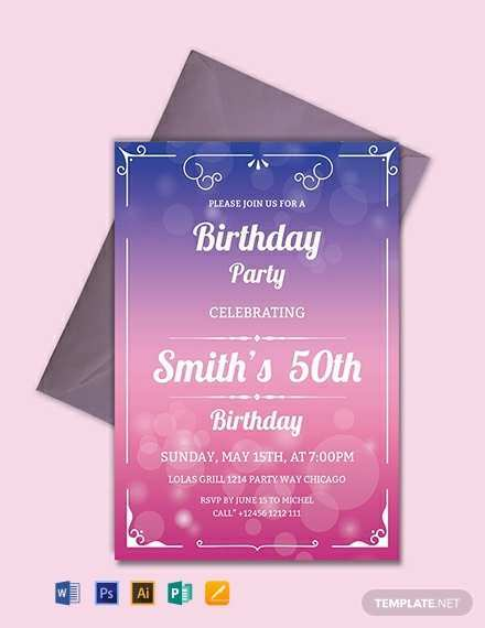 35 Customize Our Free Birthday Invitation Template Download in Word for Birthday Invitation Template Download