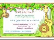 35 Customize Our Free Birthday Invitation Template Jungle Theme in Photoshop by Birthday Invitation Template Jungle Theme