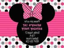 35 Free Birthday Invitation Template Minnie Mouse With Stunning Design by Birthday Invitation Template Minnie Mouse