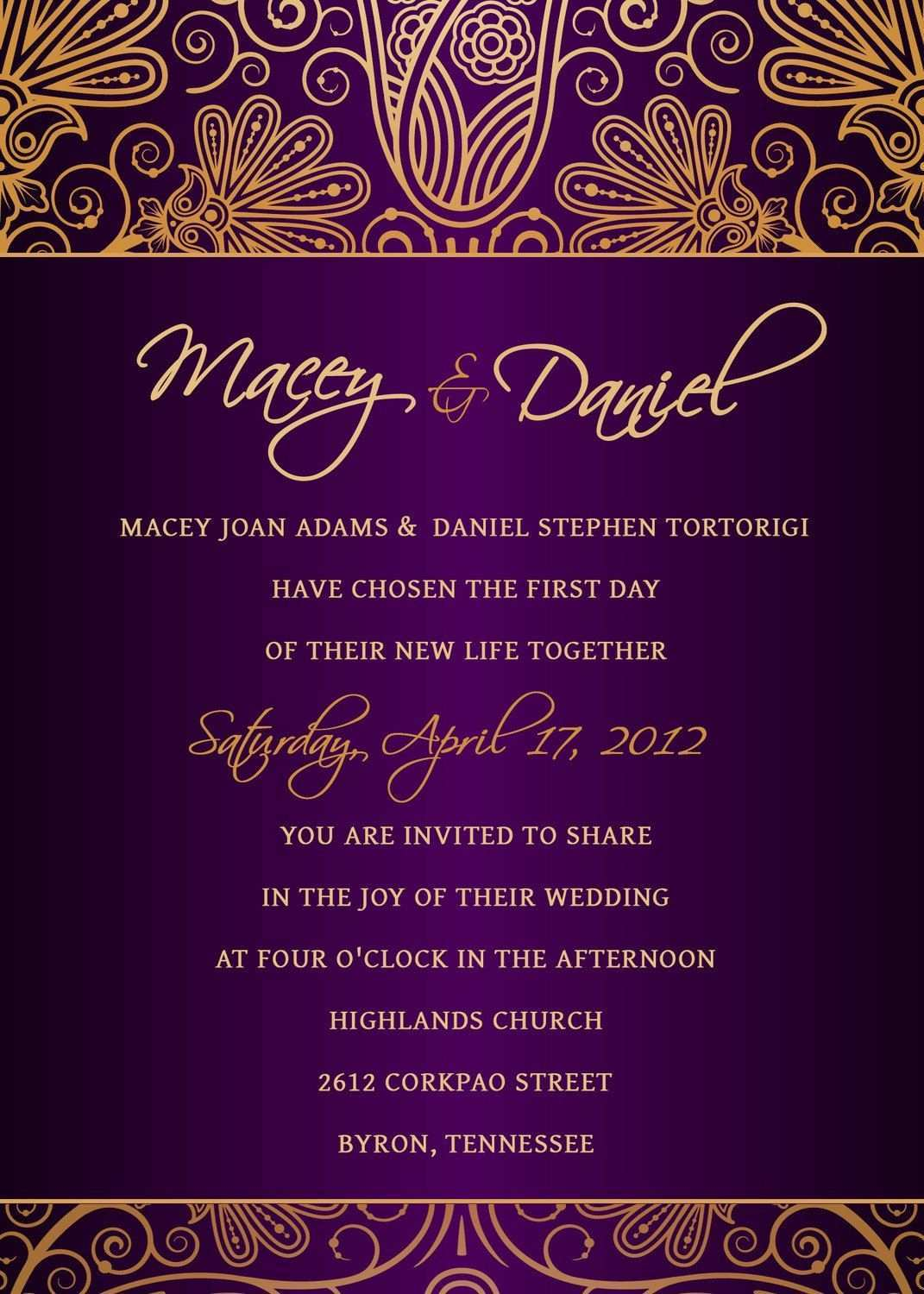 4 Free Printable Royal Wedding Invitation Template Free Layouts