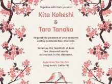 35 How To Create Japanese Wedding Invitation Template With Stunning Design with Japanese Wedding Invitation Template