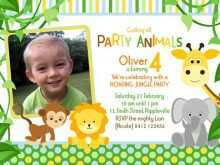 36 Blank Birthday Invitation Template Jungle Theme Maker by Birthday Invitation Template Jungle Theme