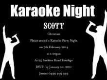 36 Create Karaoke Party Invitation Template Templates with Karaoke Party Invitation Template