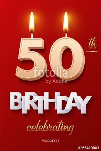 36 Creating 50Th Birthday Invitation Template Vector in Word for 50Th Birthday Invitation Template Vector