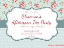 36 Creating Victorian Tea Party Invitation Template Maker with Victorian Tea Party Invitation Template