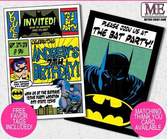 36 Creative Justice League Birthday Invitation Template in Word for Justice League Birthday Invitation Template